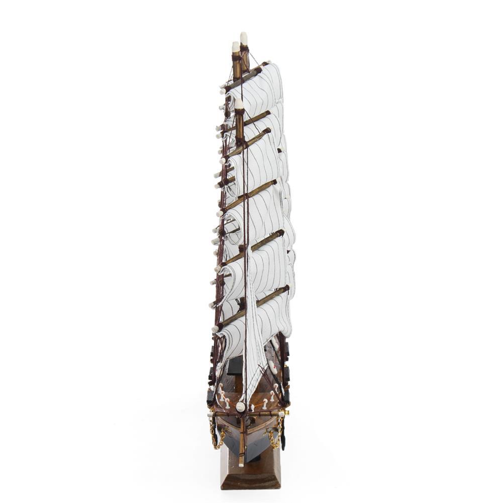 blocks-track-toys 50cm Handmade Wooden Sailing Boats Model Assembly Nautical Ship Schooner Boat Decorations Gift HOB1452230 3