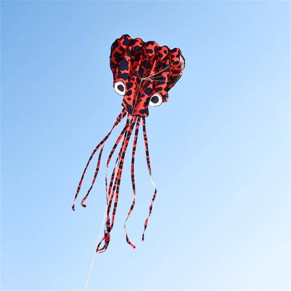 plane-parachute-toys 4M Large Animal Kite Octopus Frameless Soft Parafoil Kites for Kids HOB1453156 1