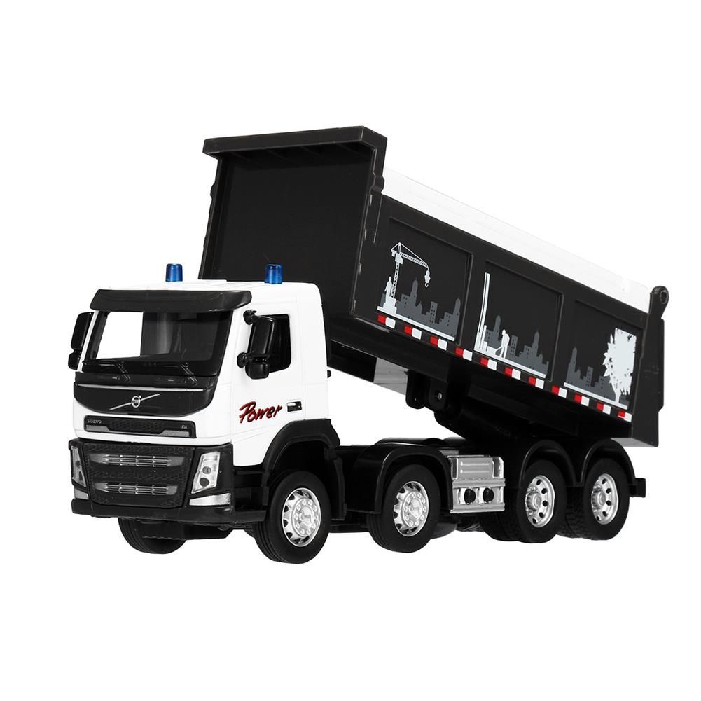 diecasts-model-toys Engineering Car Sound & Light 1:50 Scale Diecast Model Dump Truck Toy HOB1455901 3