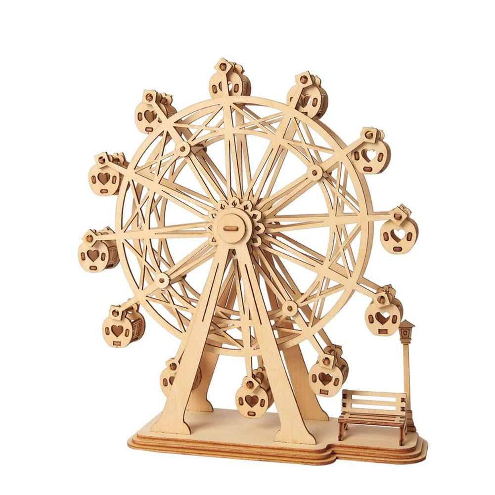 puzzle-game-toys Robotime TG401 Ferris Wheel Modern 3D Wooden Puzzle Model Building Learning Education HOB1456570