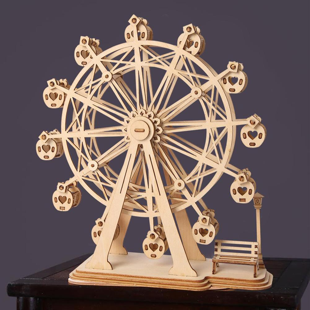 puzzle-game-toys Robotime TG401 Ferris Wheel Modern 3D Wooden Puzzle Model Building Learning Education HOB1456570 2