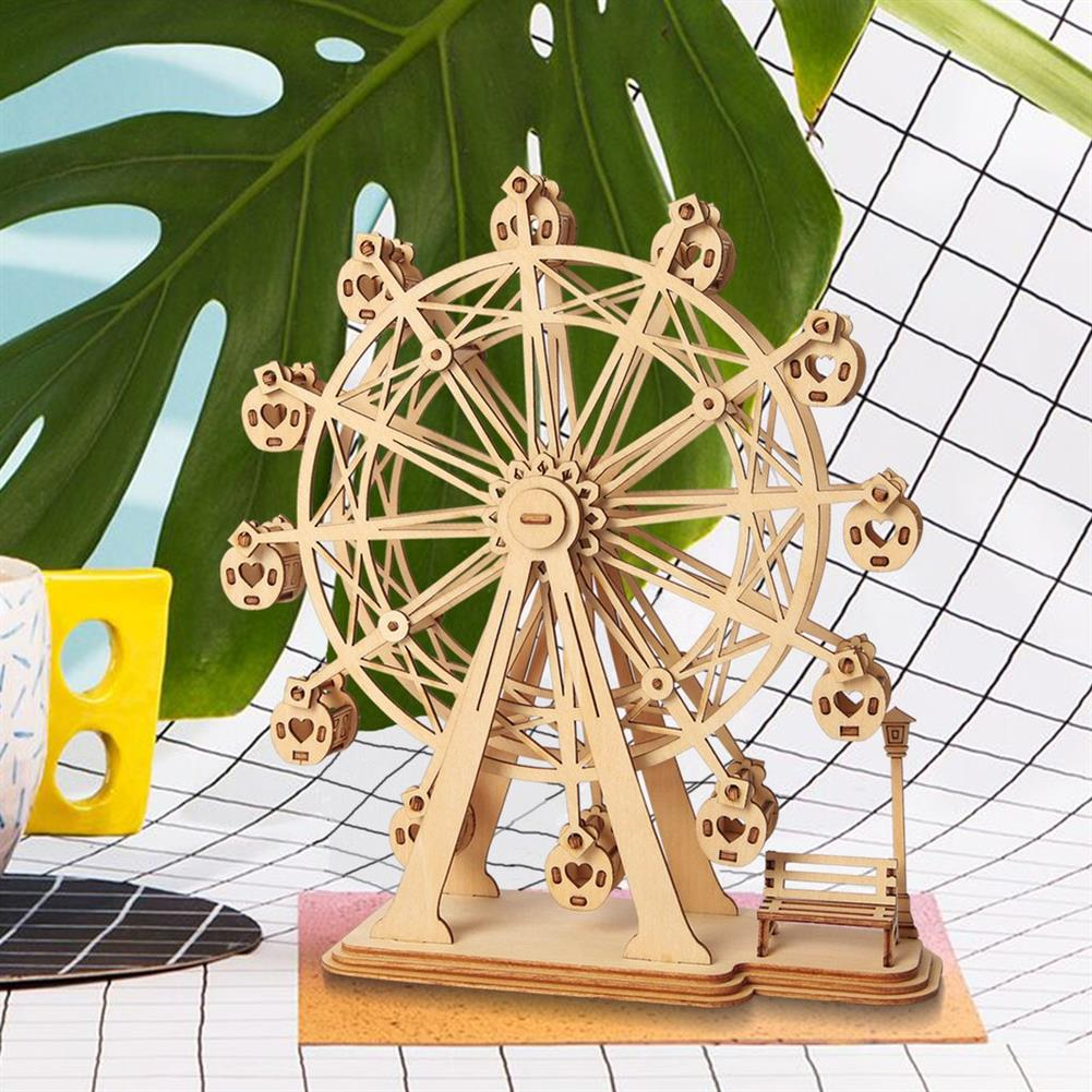puzzle-game-toys Robotime TG401 Ferris Wheel Modern 3D Wooden Puzzle Model Building Learning Education HOB1456570 3