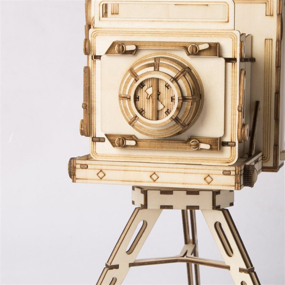 puzzle-game-toys Robotime TG403 Vintage Camera Modern 3D Wooden Puzzle Mechanical Jigsaw Puzzle Toy HOB1457028 2