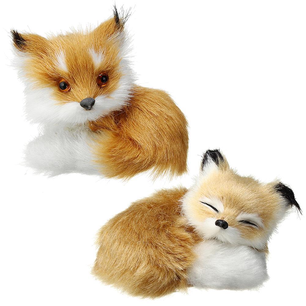 magnetic-toys Cute Plush Stuffed Little Animal Sitting Sleeping Simulation Toy Animal Birthday Gift Home Decorations HOB1458409
