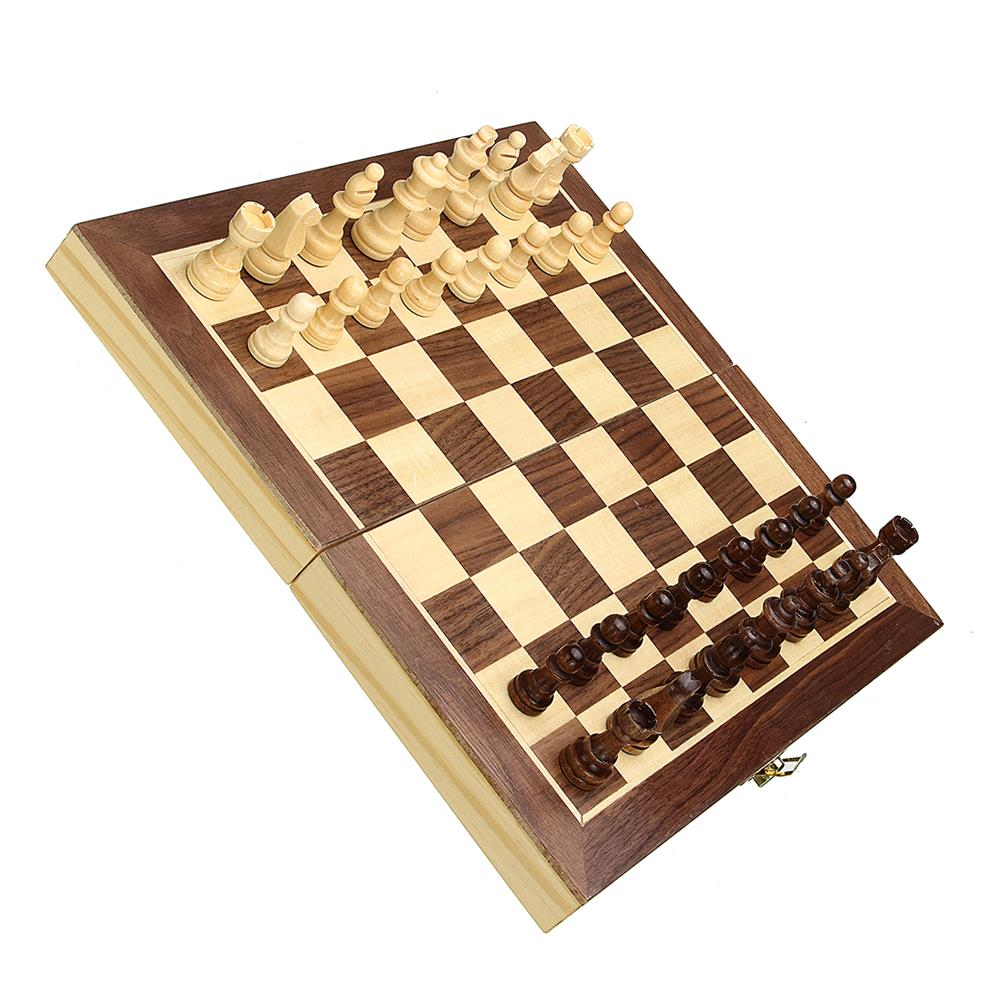 puzzle-game-toys Wood Chess Wooden Magnetic Board Hand Crafted Folding Chessboard Travel Game Set HOB1458423 1