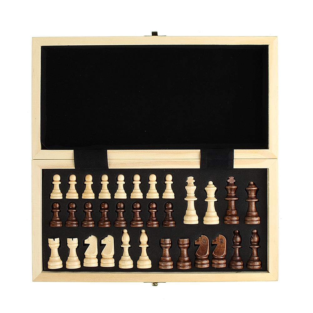 puzzle-game-toys Wood Chess Wooden Magnetic Board Hand Crafted Folding Chessboard Travel Game Set HOB1458423 2