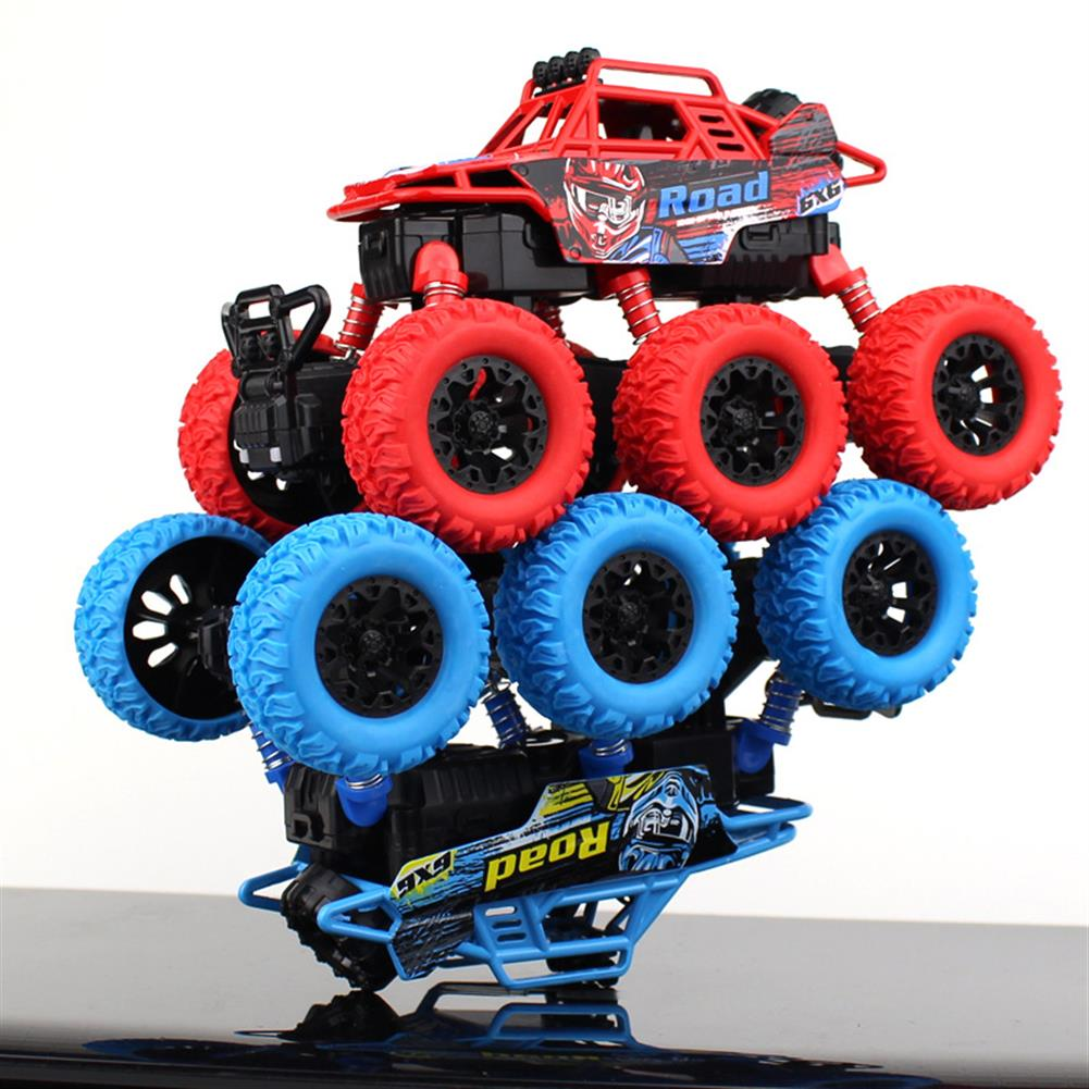 novelties 6 Bigfoot Wheel Pull Back Climbing Car Model Shockproof Car Sound Light Version Novelties Toys with Free Gift HOB1460194