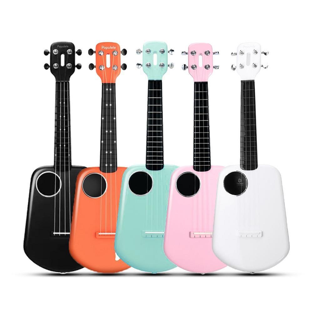 ukulele Populele 2 23 inch Carbon Fiber USB Smart Ukulele APP Control Bluetooth 4.0 with Led Lamp Beads for Beginner HOB1462635