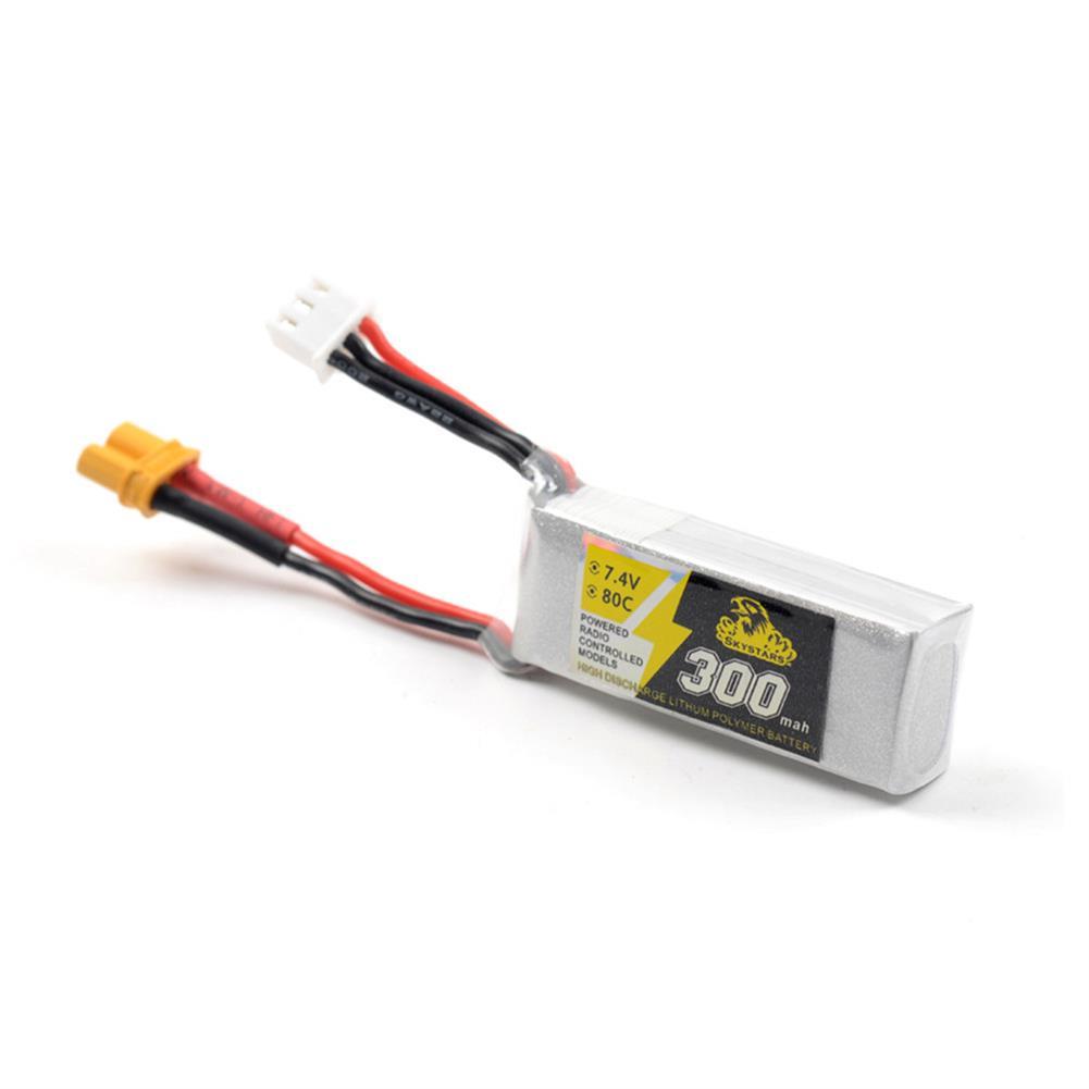 battery-charger Skystars 300mAh 7.4V 80C 2S Lipo battery XT30 Plug for Whoop Mobula7 Beta75x TinyFrog 75x RC Drone HOB1463857 1
