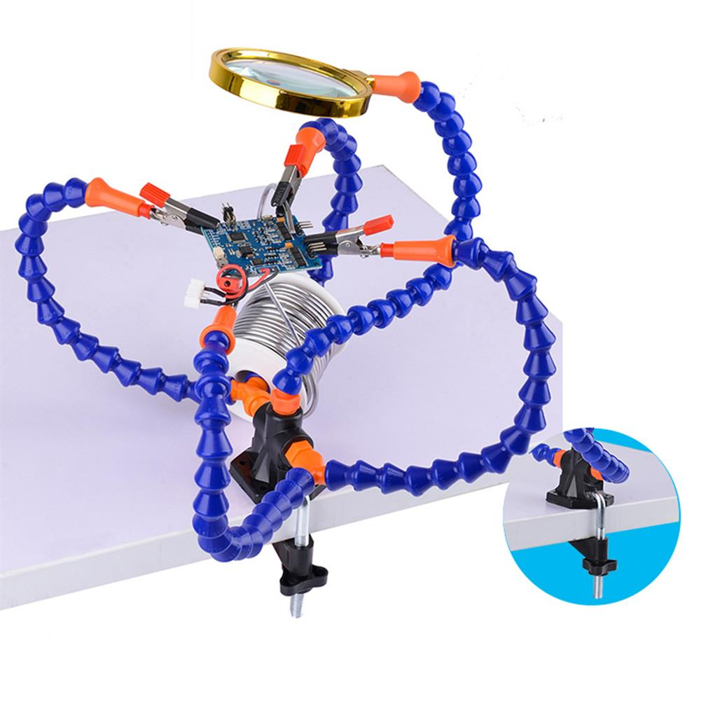 tools-bags-storage Multifunctional Soldering Station Third Hand Tool with 3/5 Flexible Arms Soldeirng Iron Holder Fan for PCB Welding Repair HOB1467122 3