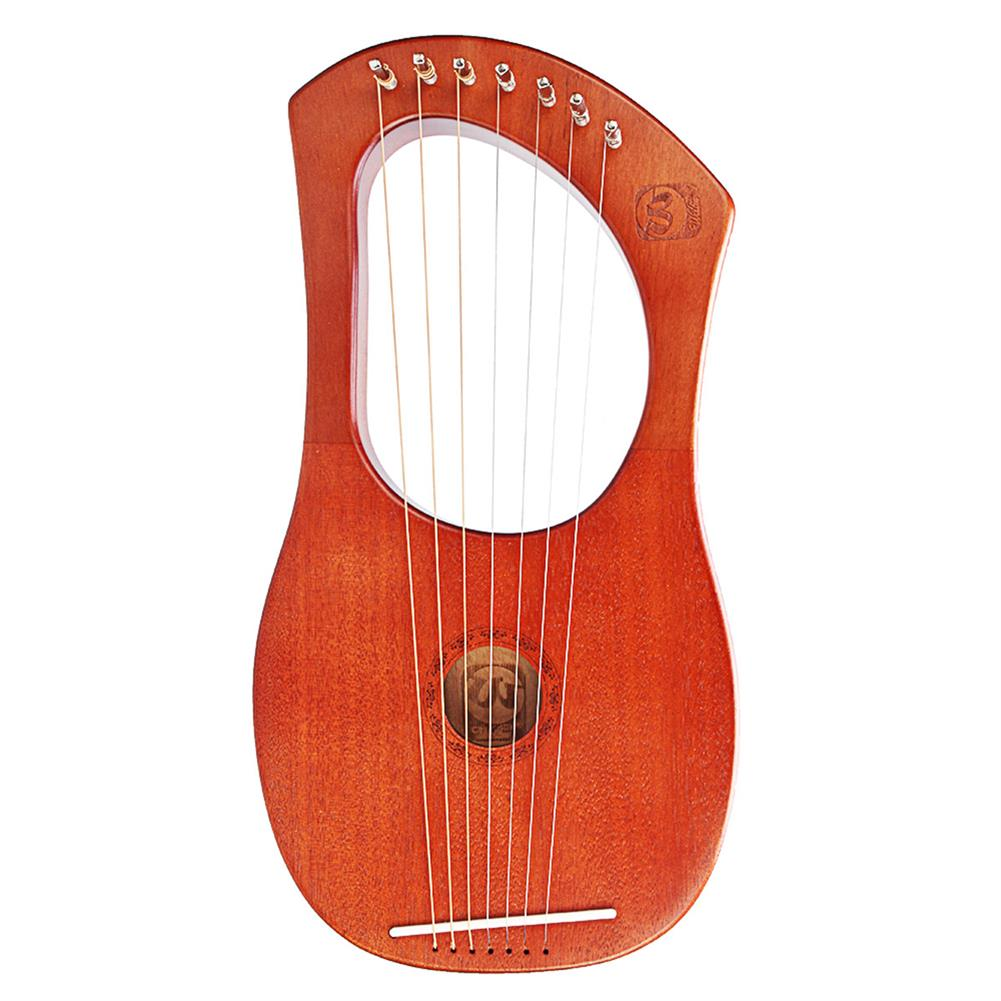 lyre Walter WH-05 7-String Mahogany Wood Iyre Harp with Bag Tunning Tool HOB1468039