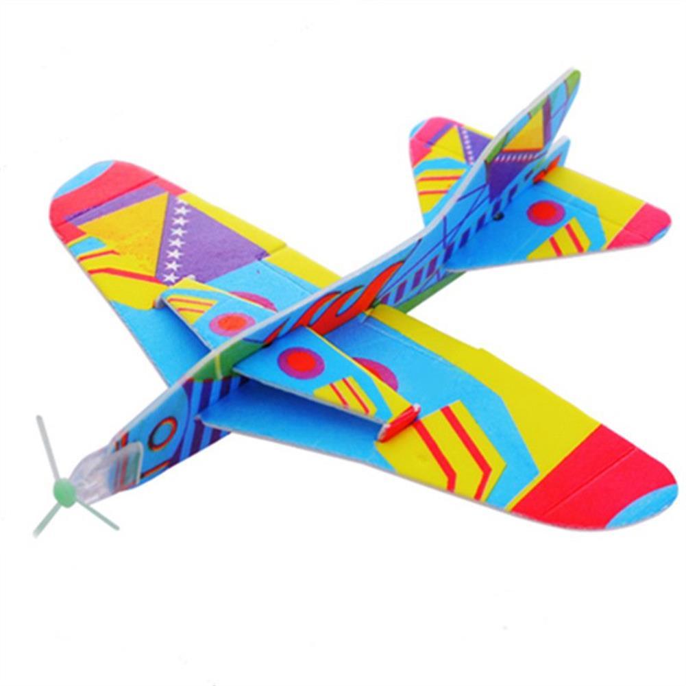 plane-parachute-toys 1Pc Flying PU Glider Plane Toy Gift Birthday Christmas Party Bag Filler 20.5cm Randon Color HOB1471931