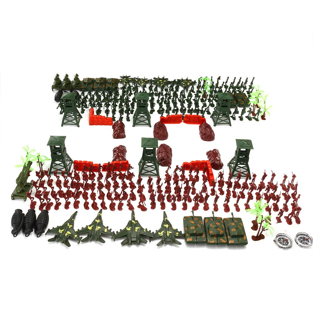 model-building 300Pcs Soldier Military Plane T ank Model Movable Joints Toys Boys Kids Gift HOB1473060