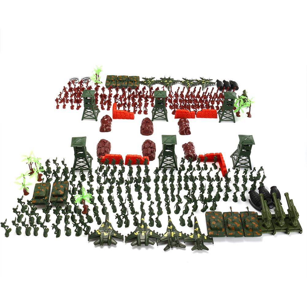 model-building 300Pcs Soldier Military Plane T ank Model Movable Joints Toys Boys Kids Gift HOB1473060 1