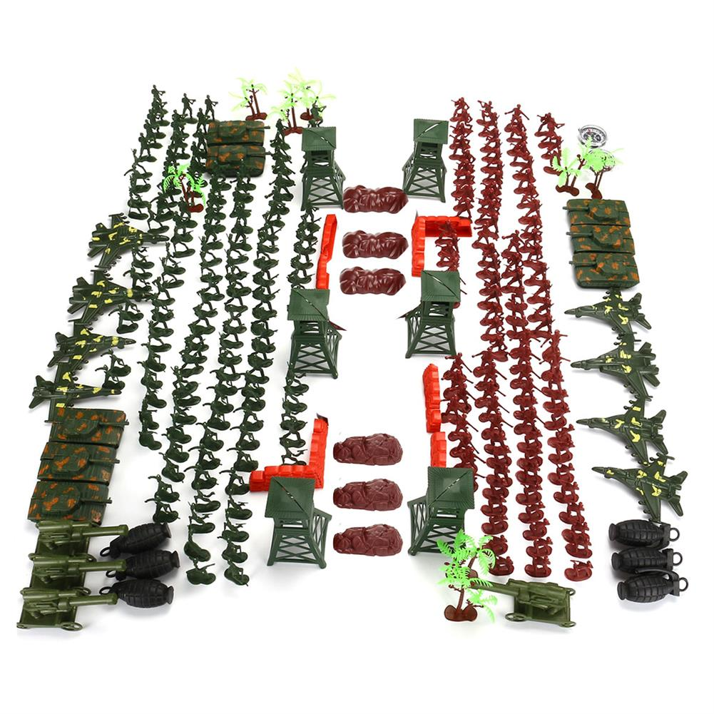 model-building 300Pcs Soldier Military Plane T ank Model Movable Joints Toys Boys Kids Gift HOB1473060 2