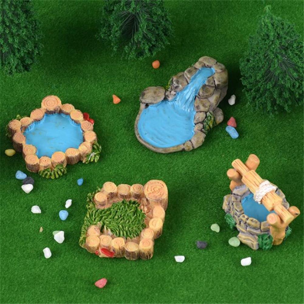 model-building 5Pcs DIY Resin Craft Antique Imitation Fairy Garden Home Miniature Decorations Micro Landscape HOB1475629