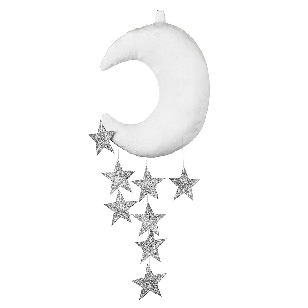 decoration White Pink Moon Cloud And Star Baby Bed Hanging Room Decorations Accessories Nursery Decor Drop HOB1490560 3