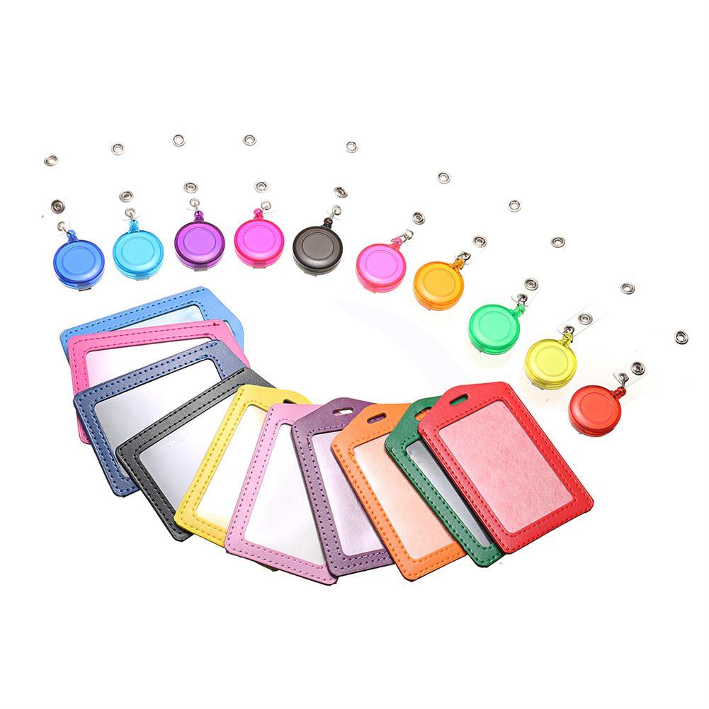 tools-bags-storage 10pcs Retractable Lanyard ID Work Badge Card Holder Business Employee HOB1499207