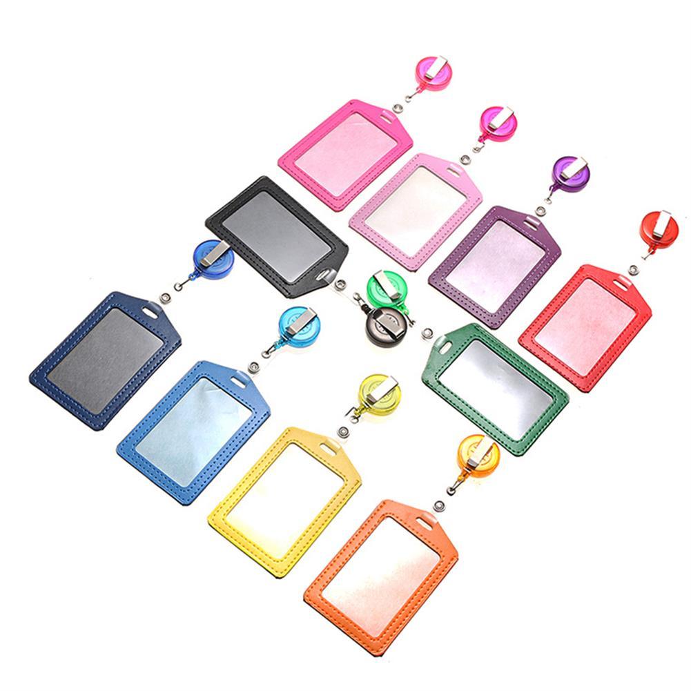 tools-bags-storage 10pcs Retractable Lanyard ID Work Badge Card Holder Business Employee HOB1499207 2