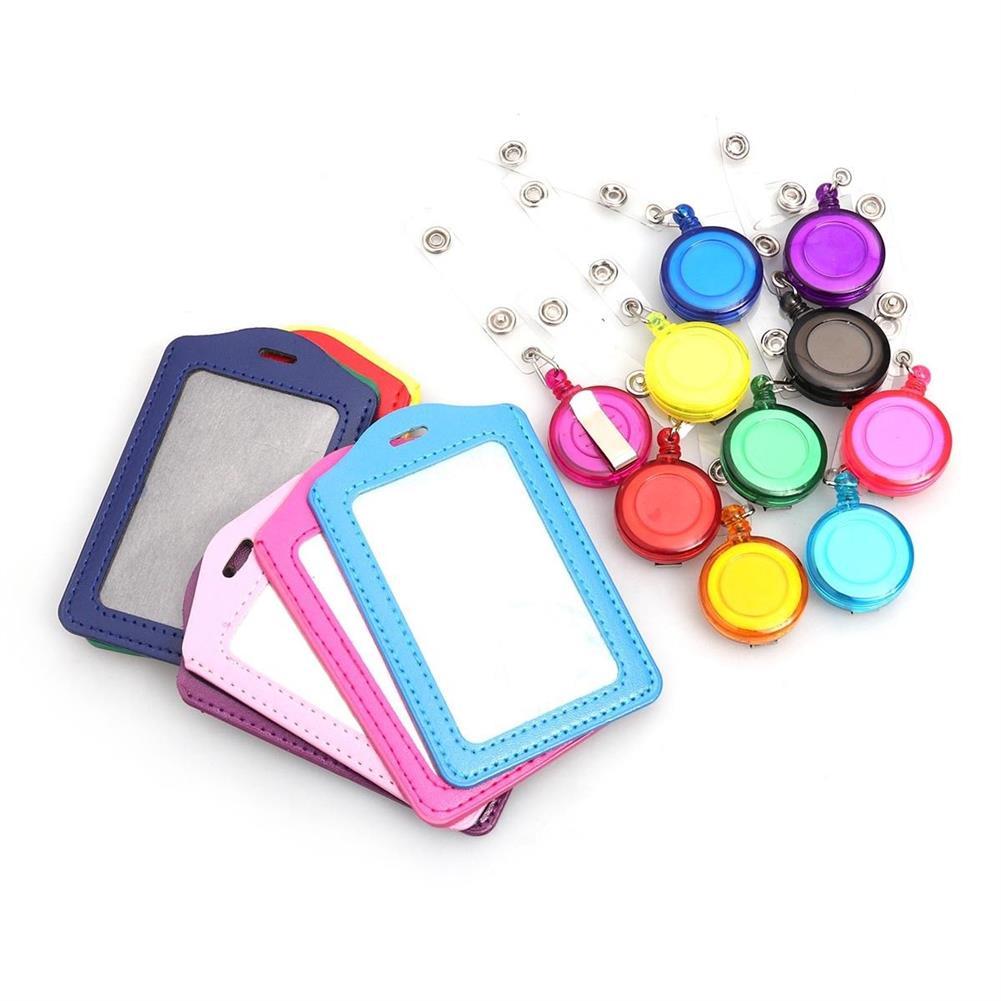 tools-bags-storage 10pcs Retractable Lanyard ID Work Badge Card Holder Business Employee HOB1499207 3