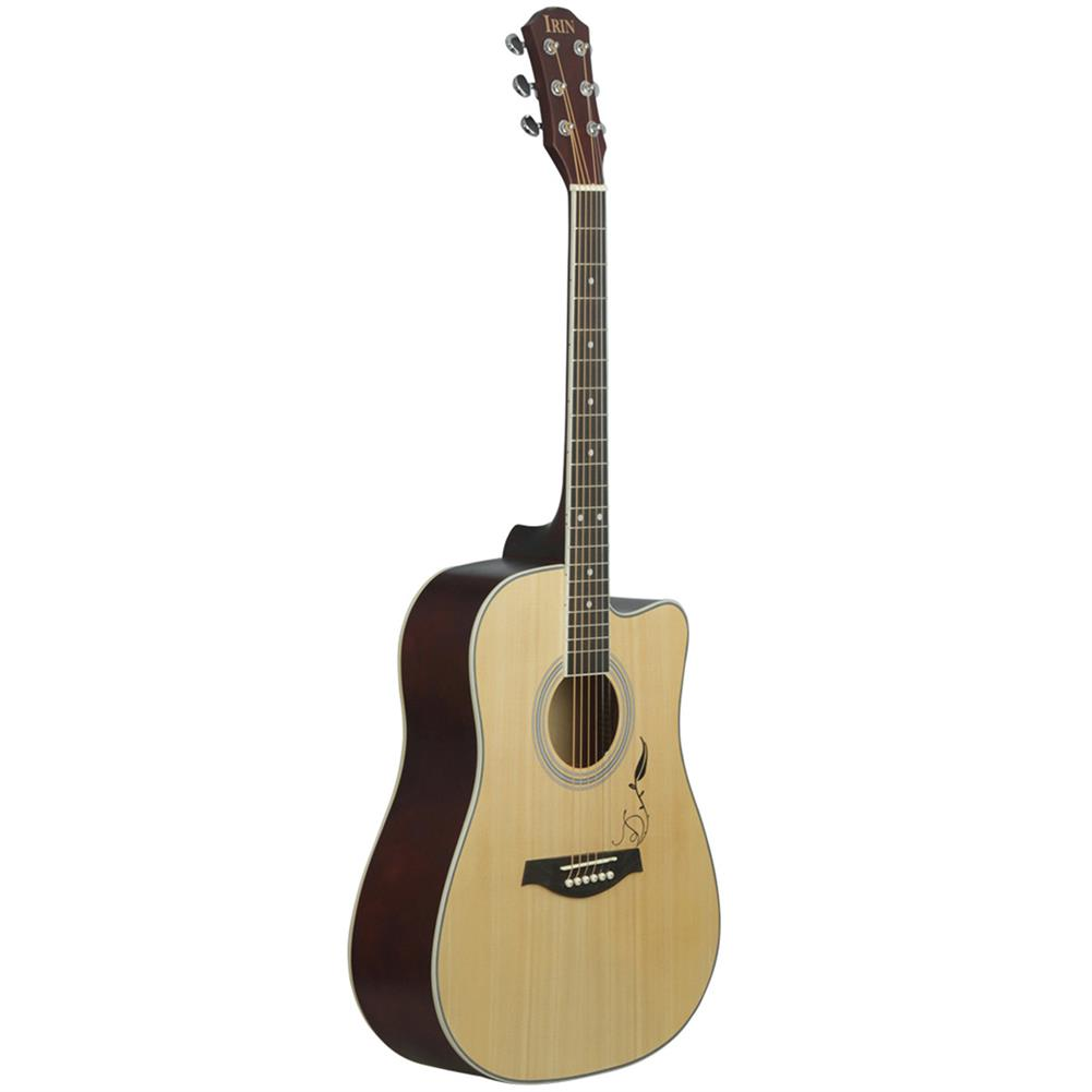 acoustic-guitars IRIN 41 inch Corner Horn Acoustic Guitar for Beginners with Guitar Bag/Pick/Strap/Pipe /Wrench/Cloth/Capo HOB1499312 1