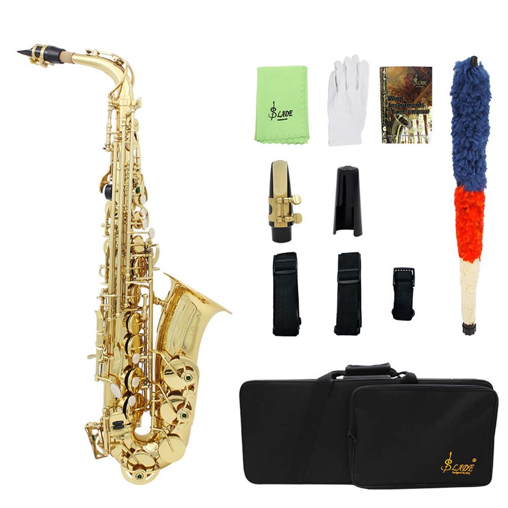 saxophone SLADE LD-896 E-flat Brass Pipe Alto Saxophone with Bag Clean Tools HOB1499313