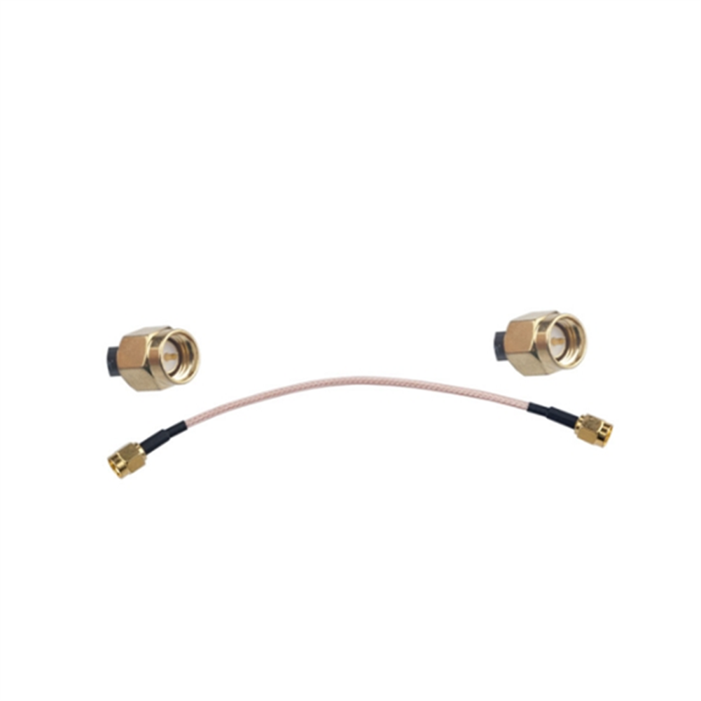 fpv-system RJXHOBBY RG316 Wire Jumper Cable 15cm SMA Male to SMA Male with Connecting Line RF Coaxial Coax Cable Antenna Extender Cable Adapter Jumper HOB1504350