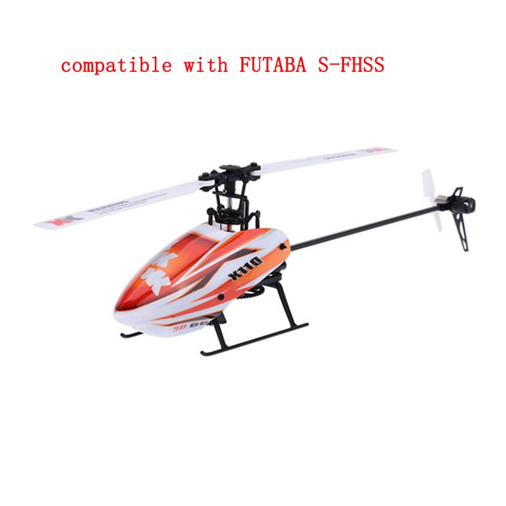 rc-helicopter XK K110 2.4G 6CH 3D Flybarless RC Helicopter RTF Compatible with FU-TABA S-FHSS with 4PCS 3.7V 450MAH Lipo Battery HOB1506639 1