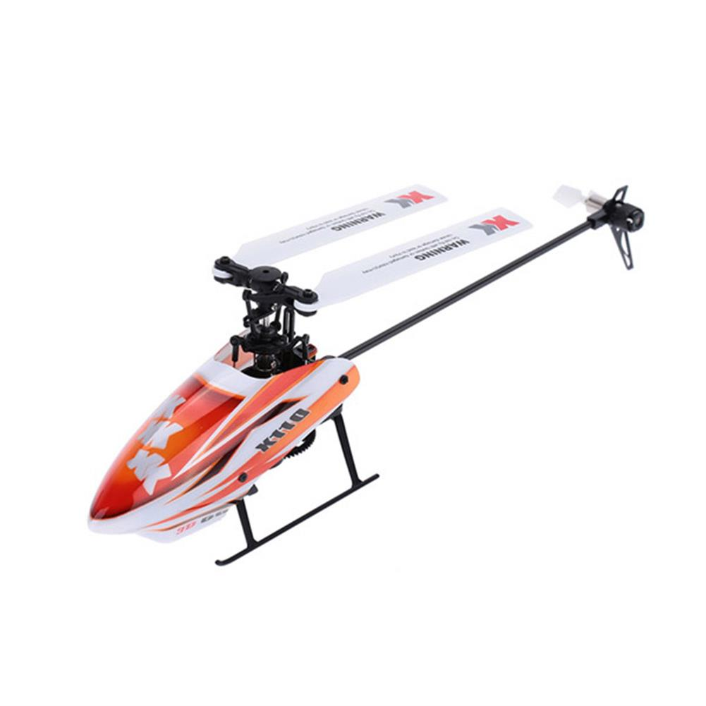 rc-helicopter XK K110 2.4G 6CH 3D Flybarless RC Helicopter RTF Compatible with FU-TABA S-FHSS with 4PCS 3.7V 450MAH Lipo Battery HOB1506639 2