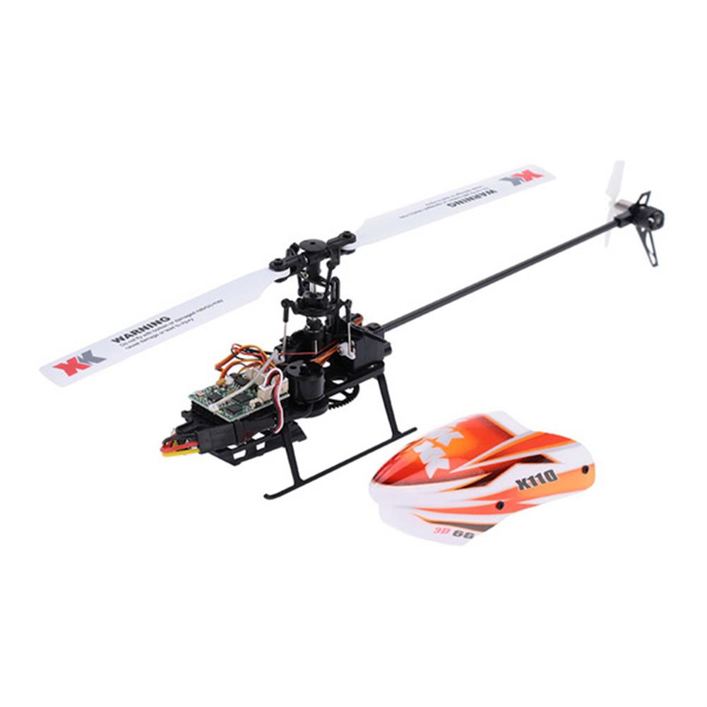 rc-helicopter XK K110 2.4G 6CH 3D Flybarless RC Helicopter RTF Compatible with FU-TABA S-FHSS with 4PCS 3.7V 450MAH Lipo Battery HOB1506639 3