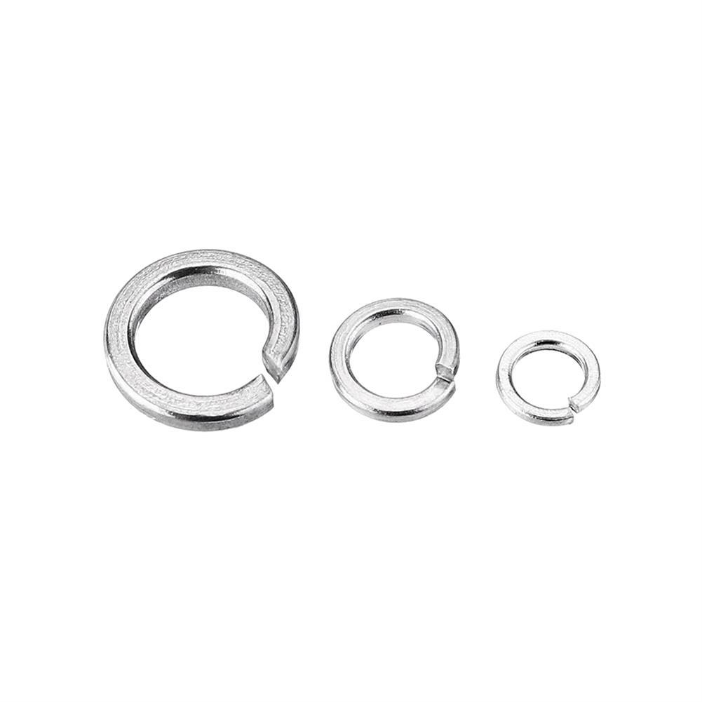 tools-bags-storage 10Pcs M2/M2.5/M3/4 304 Stainless Steel Spring Washer Split Lock Washers HOB1506751 3