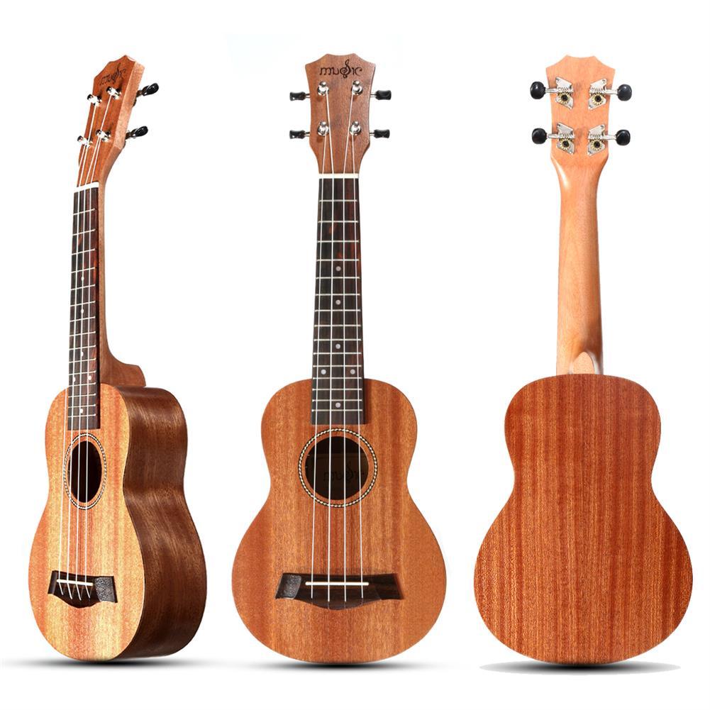 ukulele 21 inch 4 Strings 15 Frets Wood Color Mahogany Ukulele Musical instrument with Guitar picks/Rope HOB1510274
