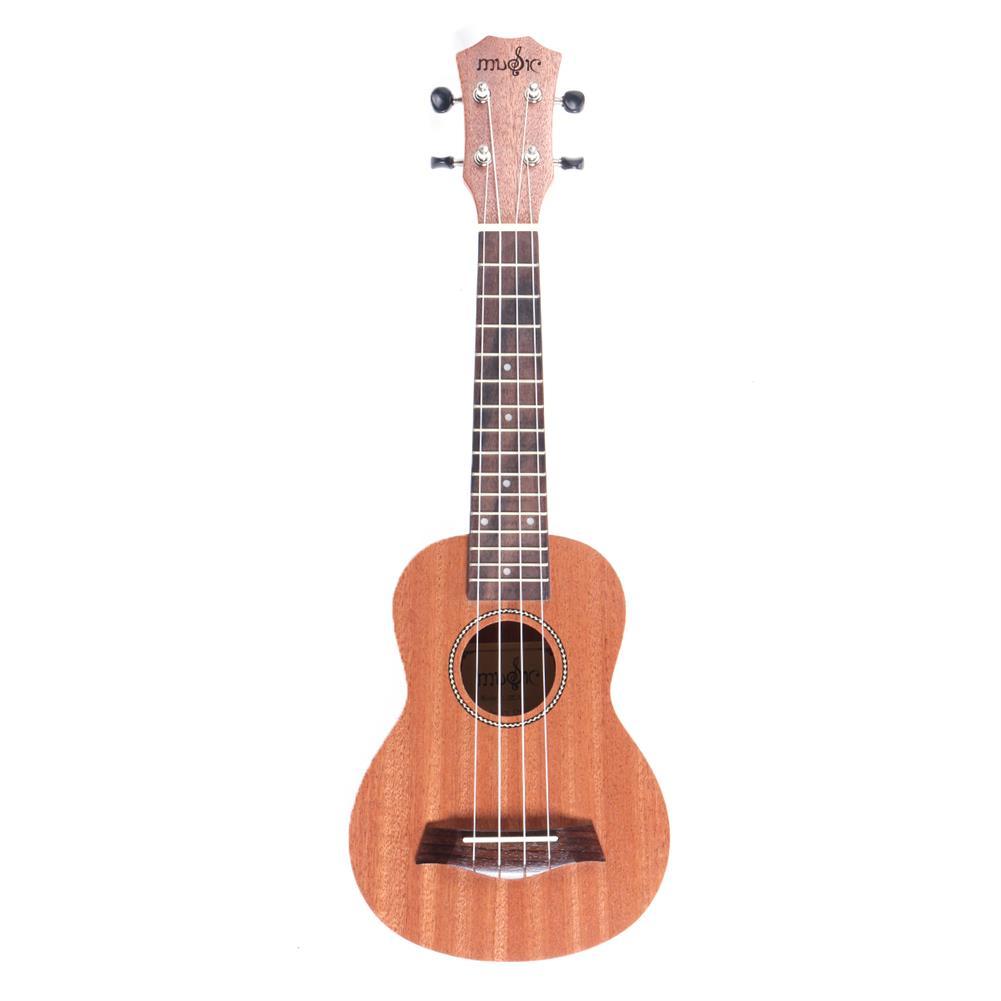 ukulele 21 inch 4 Strings 15 Frets Wood Color Mahogany Ukulele Musical instrument with Guitar picks/Rope HOB1510274 1