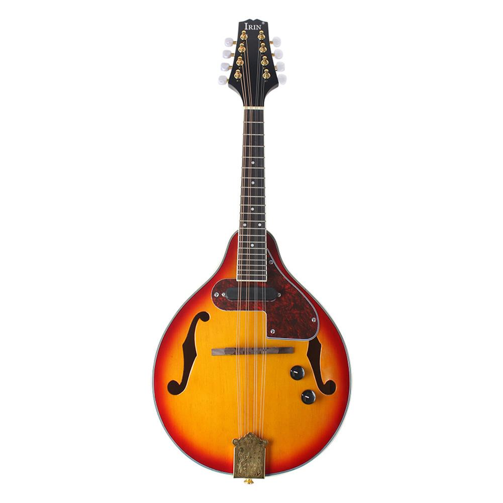 mandolin IRIN ME-21 8 Strings Sunset Color Electric Mandolin with Pickle/Wipe Cloth/3M Connection HOB1510328 1