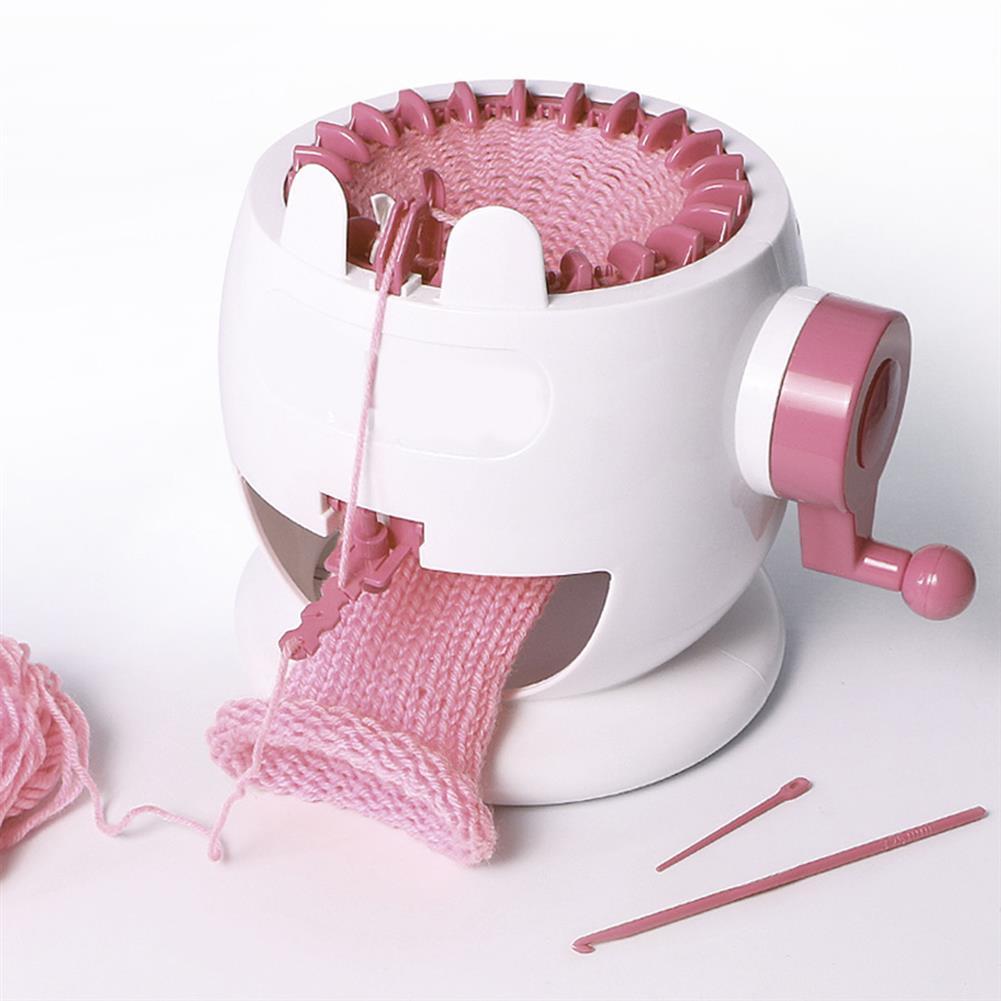 puzzle-game-toys Kids Knitting Machine Mini Children Weaving Loom Knit for Hats Scarves Socks Toys HOB1513412 1