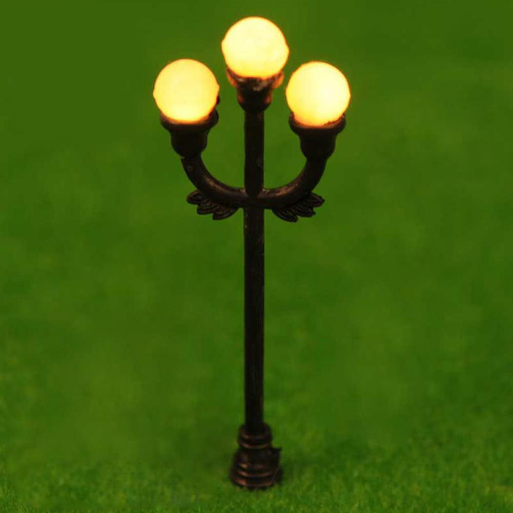 model-building HO OO Scale 5Pcs Resin Craft Mini Street Light Lamp Antique Imitation Fairy Garden Home Miniature DIY Micro Landscape HOB1514541