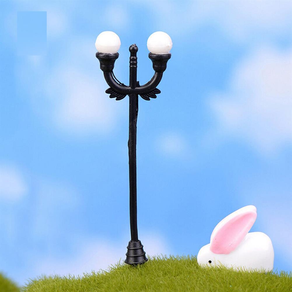 model-building HO OO Scale 5Pcs Resin Craft Mini Street Light Lamp Antique Imitation Fairy Garden Home Miniature DIY Micro Landscape HOB1514541 1