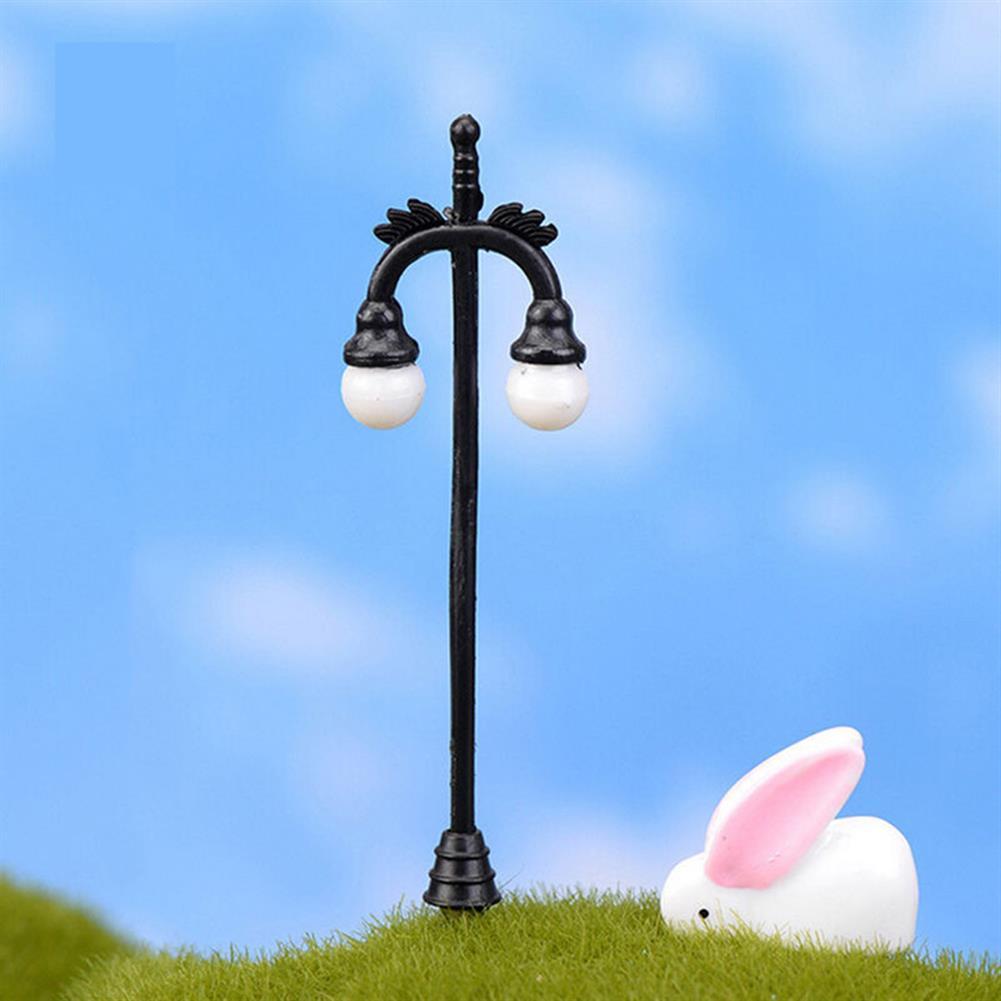 model-building HO OO Scale 5Pcs Resin Craft Mini Street Light Lamp Antique Imitation Fairy Garden Home Miniature DIY Micro Landscape HOB1514541 2