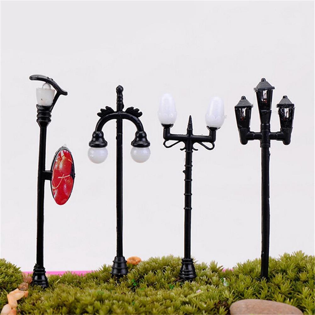 model-building HO OO Scale 5Pcs Mini Street Light Lamp Resin Craft Antique Imitation Fairy Garden Home Miniature DIY Micro Landscape HOB1514543 3