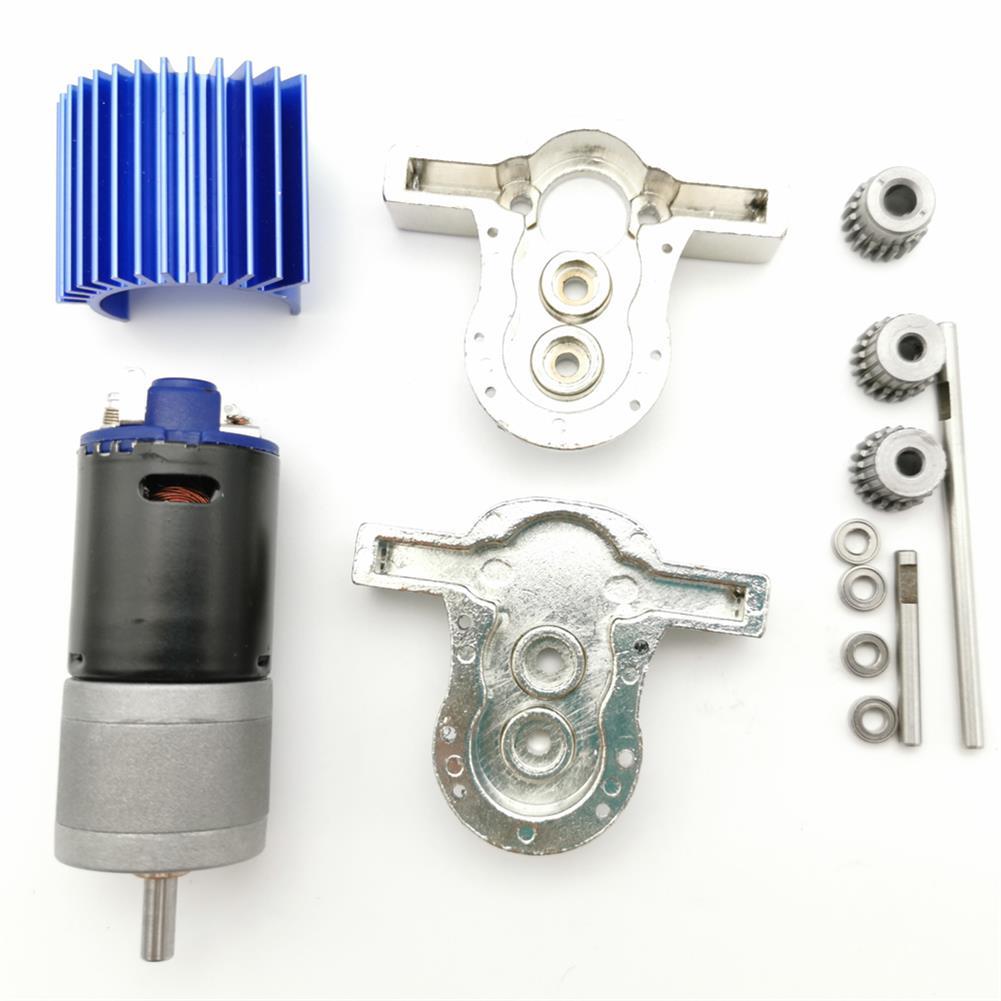 rc-car-parts 1 Set All Metal Transfer Gear Box Kit with 370 Motor WPL B16 B24 B36 C24 JJRC Q65 1/16 RC Parts HOB1514681