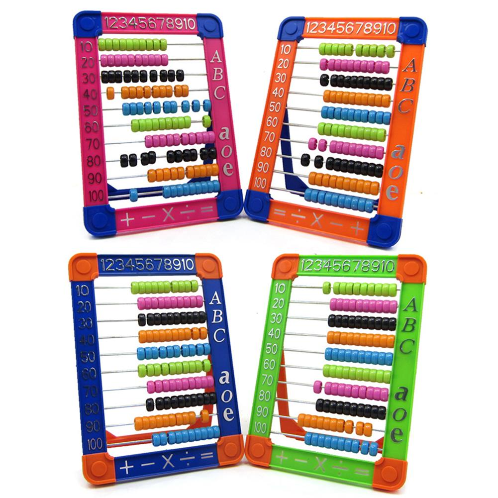 puzzle-game-toys 100 Beads Abacus Counting Number Preschool Kid Math Learning Teaching Education Calculator Toys HOB1515708