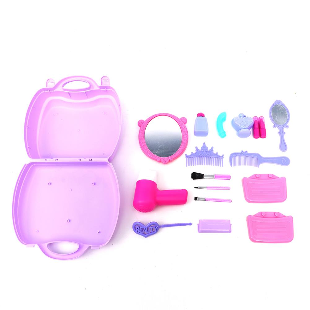 puzzle-game-toys Set of Pricess Makeup Hairdressing Kit Kids Girls Pretend Play Children Toys Gift HOB1515716