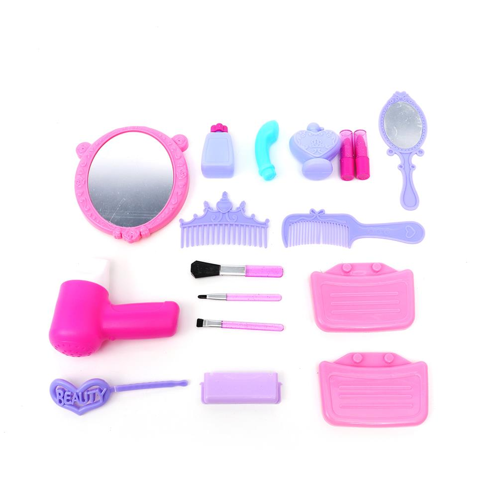 puzzle-game-toys Set of Pricess Makeup Hairdressing Kit Kids Girls Pretend Play Children Toys Gift HOB1515716 3