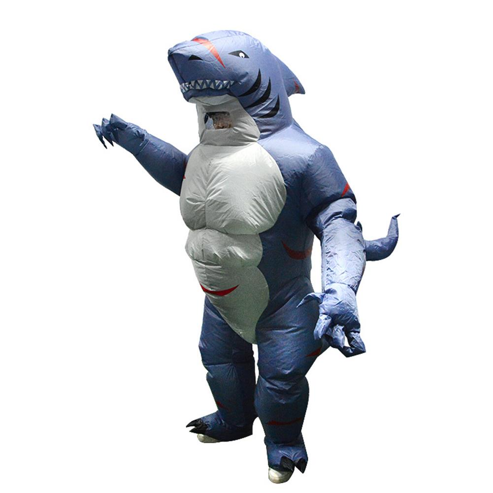 inflatable-toys Up to 2.2m Adult Shark inflatable Clothing with Blower Halloween Costume Clothing Adult Party Fancy Animal Clothing HOB1523359 1