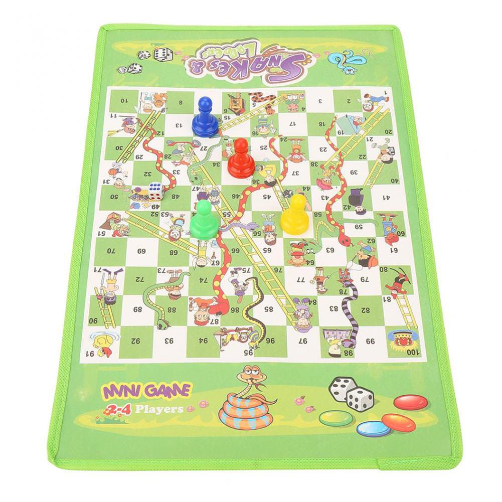 puzzle-game-toys Snake Ladder interesting Board Game Toy Set Portable Flying Chess Board Educational Kids Toys HOB1523368