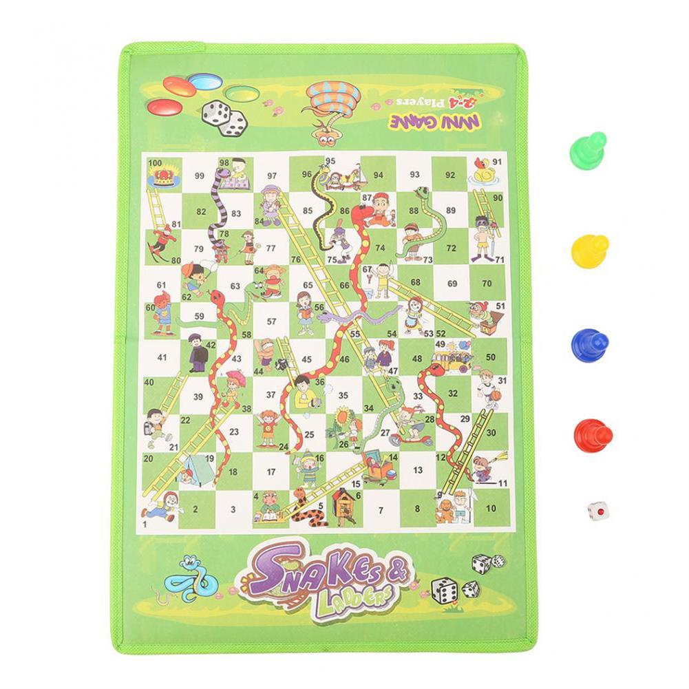 puzzle-game-toys Snake Ladder interesting Board Game Toy Set Portable Flying Chess Board Educational Kids Toys HOB1523368 1
