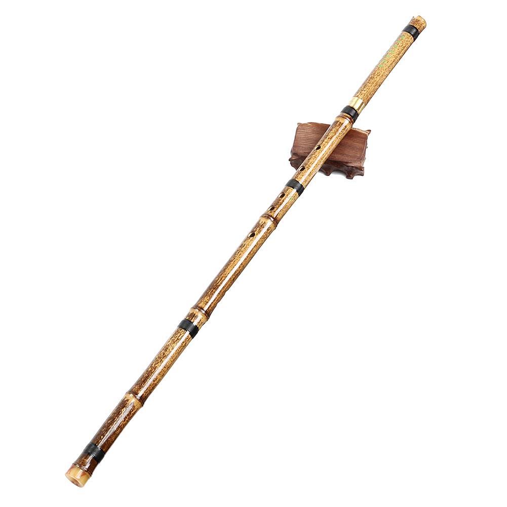 folk-world-winds G/F Key Detachable 2 Sections Natural Purple Bamboo Chinese Woodwind Flute HOB1526832 2