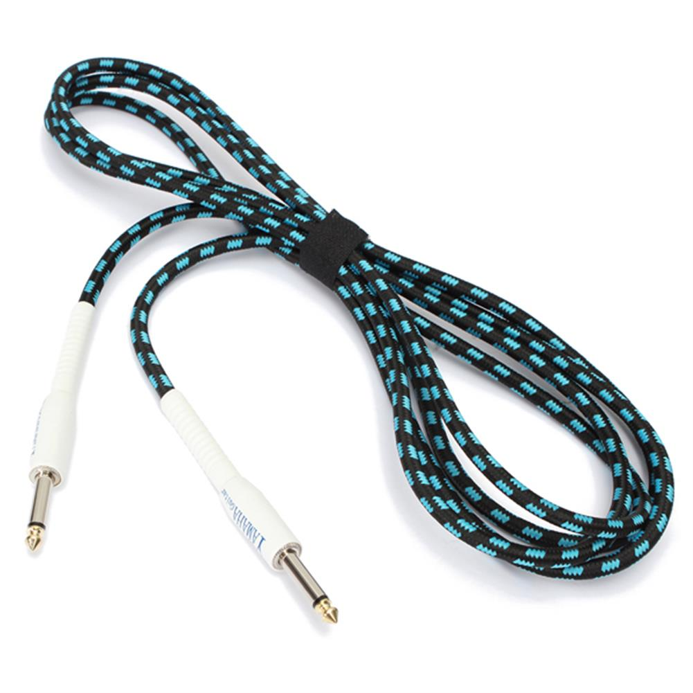 guitar-accessories Zebra 3m Guitar Cable Cord for Guitar Mixer Amplifier Blue-Black HOB1526833 1