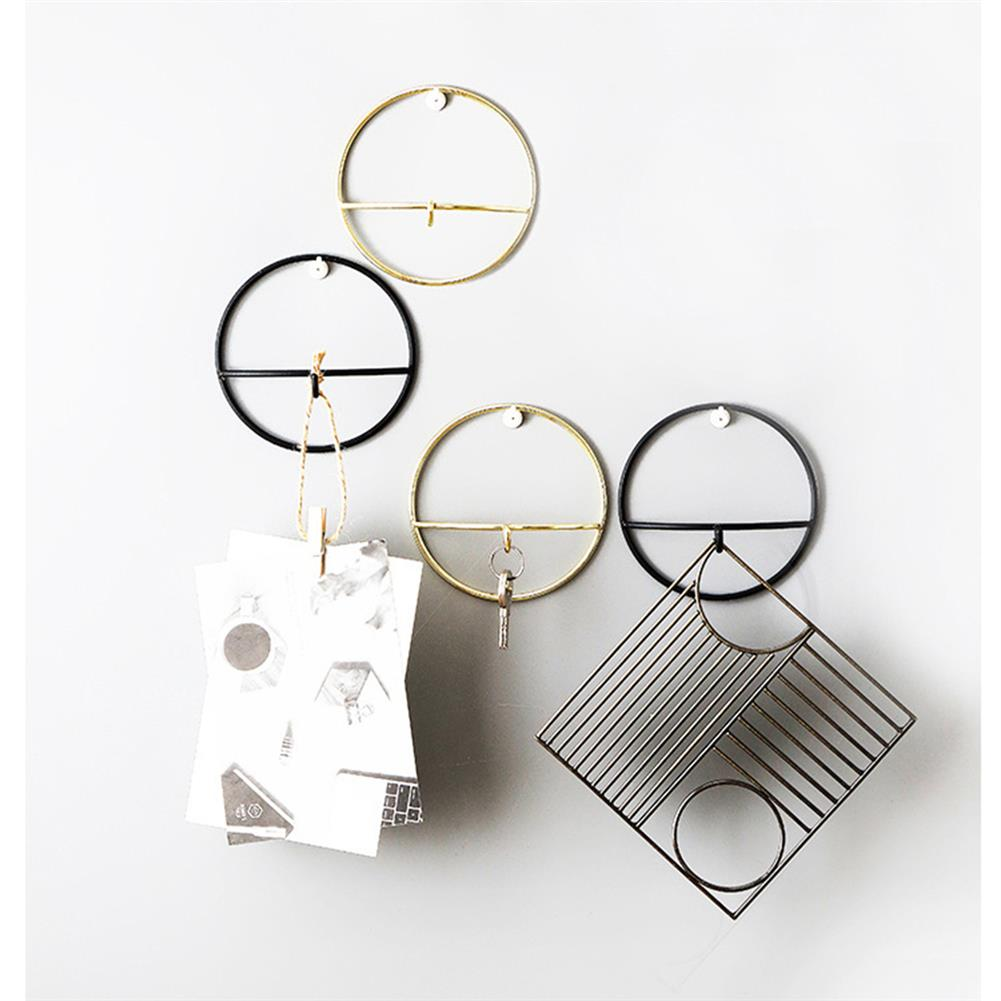 puzzle-game-toys Wall Hooks Wrought Iron Geometric Hanger Hook Wall Hanging Bedroom Clothes Jewelry Home Decoration HOB1528179 2