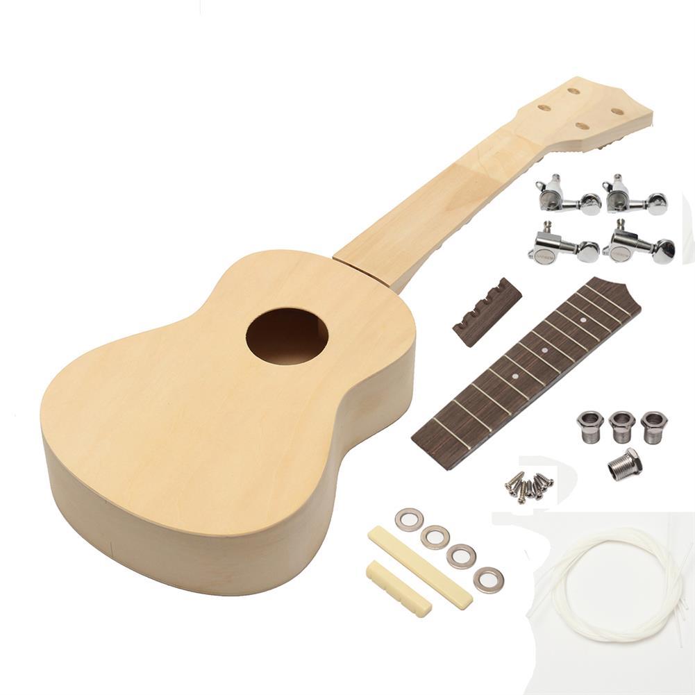 ukulele 21'' Ukulele Soprano Hawaiian Guitar Kit Basswood Wooden Musical instrument HOB1530023